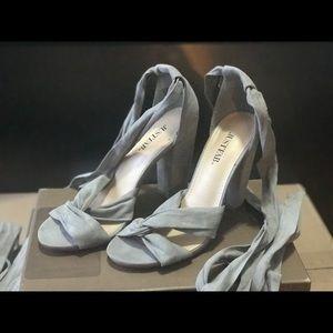JustFab wrap around sandals